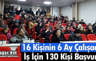 KIRKAĞAÇ'TA 16 KİŞİNİN ALINACAĞI İŞ İÇİN...