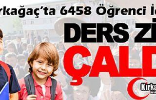 KIRKAĞAÇ'TA 6458 ÖĞRENCİ İÇİN DERS ZİLİ...