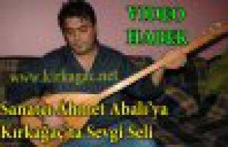 Şarkıcı Ahmet Abalı'ya Kırkağaç'ta Sevgi Seli(VİDEO)