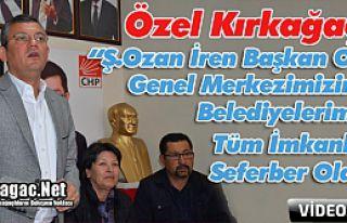 """ÖZEL """"OZAN BAŞKAN OLUNCA TÜM İMKANLARIMIZI SEFERBER..."""
