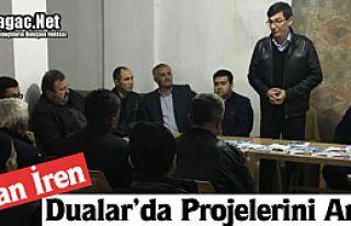 Ş.OZAN İREN DUALAR'DA PROJELERİNİ ANLATTI