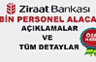 ZİRAAT BANKASI 3 BİN MEMUR ALACAK