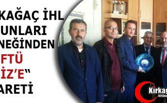 """KIRKAĞAÇ İHL MEZUNLARI DERNEĞİNDEN """"MÜFTÜ DENİZ'E"""" ZİYARET"""
