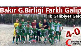BAKIR G.BİRLİĞİ FARKLI GALİP 4-0