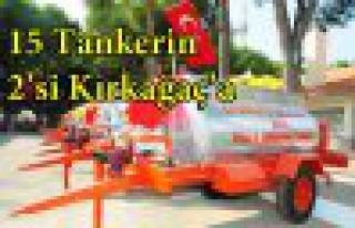 15 Yangın Tankerinden 2'si Kırkağaç'a Verildi