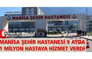 ŞEHİR HASTANESİ 9 AYDA 1 MİLYON HASTAYA HİZMET...