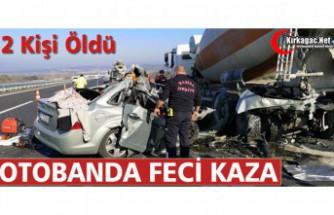 OTOBANDA FECİ KAZA 2 ÖLÜ