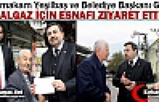 """YEŞİLBAŞ ve GEDÜZ """"DOĞALGAZ"""" İÇİN ESNAFI..."""