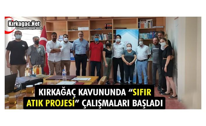"""KIRKAĞAÇ KAVUNUNDA """"SIFIR ATIK PROJESİ"""" ÇALIŞMALARI BAŞLADI"""
