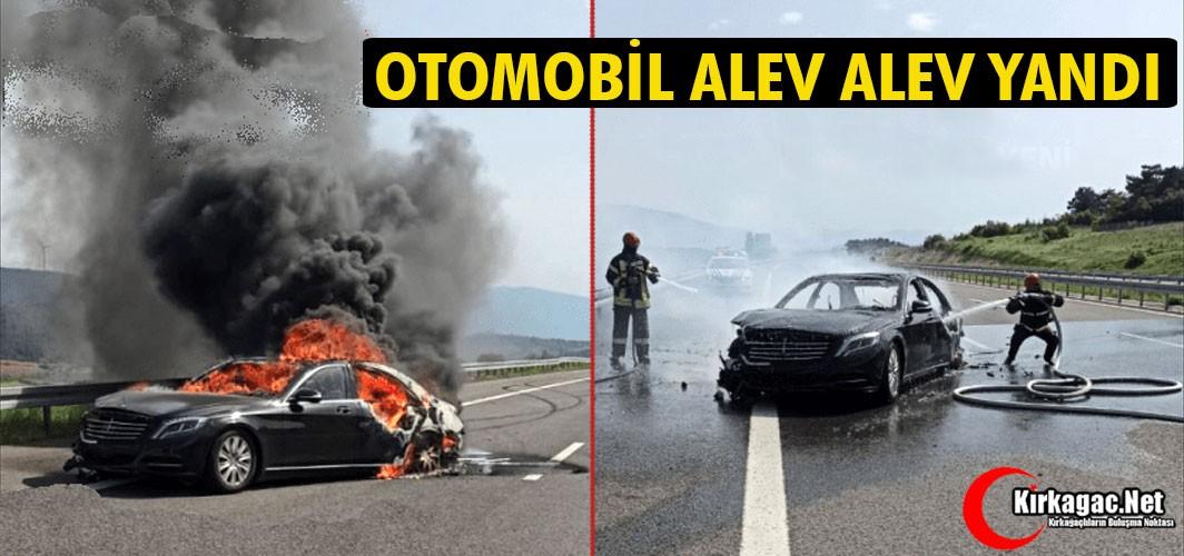 OTOMOBİL ALEV ALEV YANDI