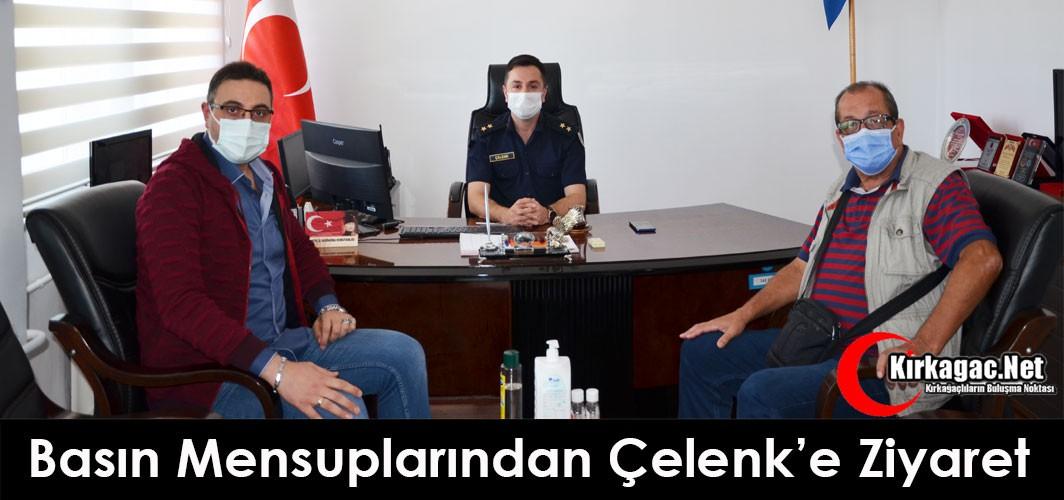 BASIN MENSUPLARINDAN ÇELENK'E ZİYARET
