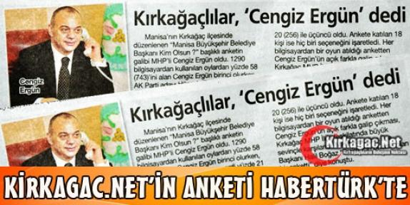 KİRKAGAC.NET'İN ANKETİ HABERTÜRK'TE