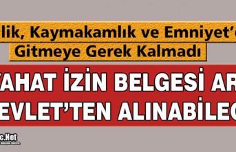 SEYAHAT BELGESİ E-DEVLET'TEN ALINABİLECEK