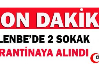 SON DAKİKA.. GELENBE'DE 2 SOKAK KARANTİNAYA ALINDI