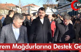 DEPREM MAĞDURLARINA DESTEK GELİYOR