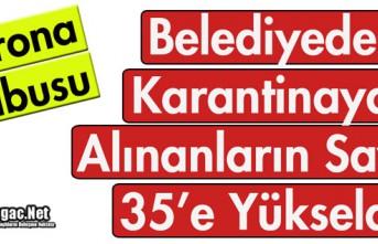 BELEDİYEDE KARANTİNAYA ALINANLARIN SAYISI 35'E...