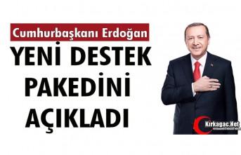 """CUMHURBAŞKANI ERDOĞAN """"YENİ DESTEK"""" PAKEDİNİ..."""