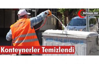 KONTEYNERLER TEMİZLENDİ
