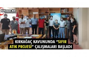 """KIRKAĞAÇ KAVUNUNDA """"SIFIR ATIK PROJESİ"""" ÇALIŞMALARI..."""