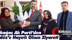 AK PARTİ'DEN GEDÜZ'E ZİYARET