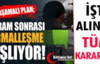 "İŞTE ALINAN ""NORMALLEŞME"" KARARLARI"